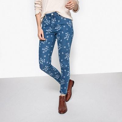 Floral Print Skinny Jeans, Length 29