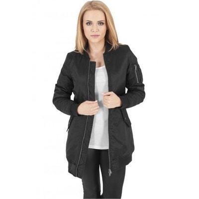 Manteau bombers femme long