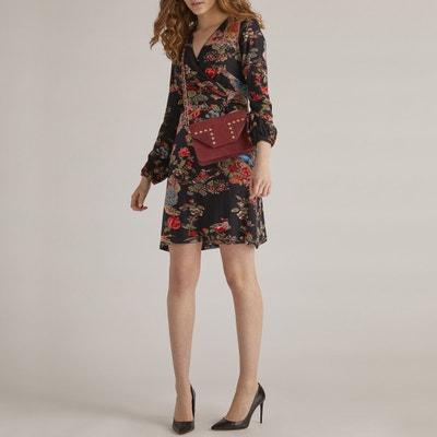 Vestido recto con estampado de flores, semilargo Vestido recto con estampado de flores, semilargo RENE DERHY