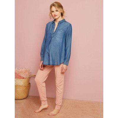Pantalon homewear de grossesse en côtes Pantalon homewear de grossesse en côtes VERTBAUDET