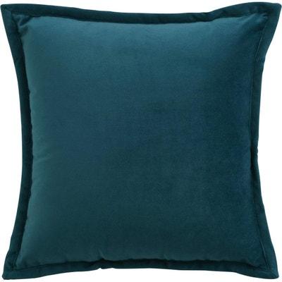 Coussin velours Orient Bleu ANNE DE SOLENE
