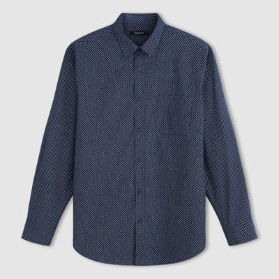 Camisa de popelina estampada, manga larga Camisa de popelina estampada, manga larga TAILLISSIME