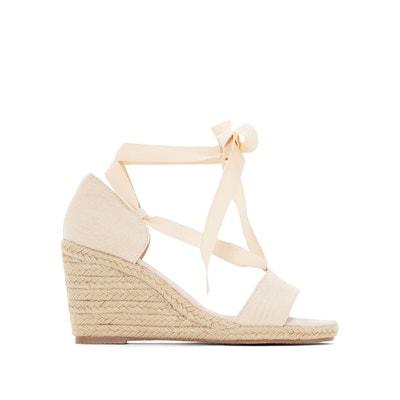 Sandaletten in der Art von Espadrilles, Sisalabsatz Sandaletten in der Art von Espadrilles, Sisalabsatz ANNE WEYBURN