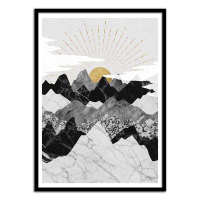 Affiche art 50x70 cm - Design Illustration - Sun Rise WALL EDITIONS
