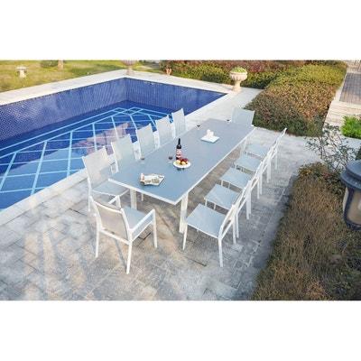 Table de jardin blanche en solde   La Redoute