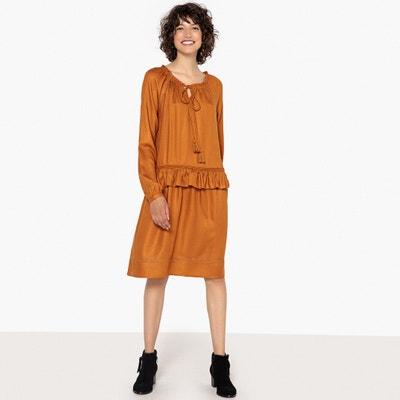 Prosta, lejąca sukienka z falbanką w talii Prosta, lejąca sukienka z falbanką w talii La Redoute Collections