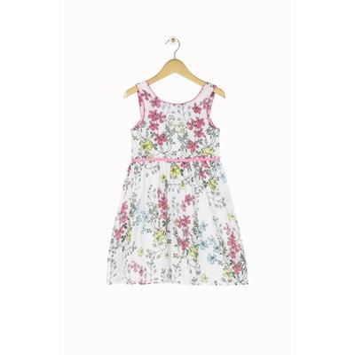 Robe d été blanche Derhy Kids, imprimé fleuri. 0b987ac25757