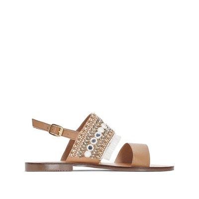 Sandales cuir détail franges Sandales cuir détail franges LA REDOUTE COLLECTIONS