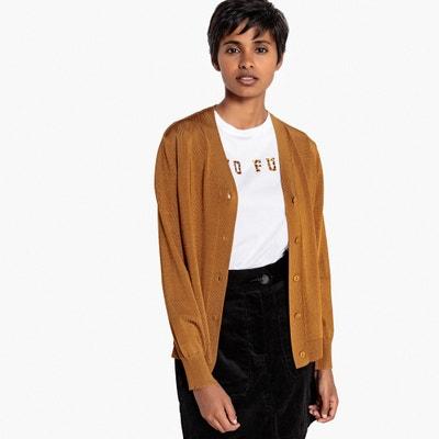 Sweter z błyszczącej dzianiny, dekolt w serek Sweter z błyszczącej dzianiny, dekolt w serek La Redoute Collections