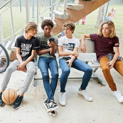t-shirt col rond imprimé devant dos 10-16 ans t-shirt col rond imprimé devant dos 10-16 ans La Redoute Collections