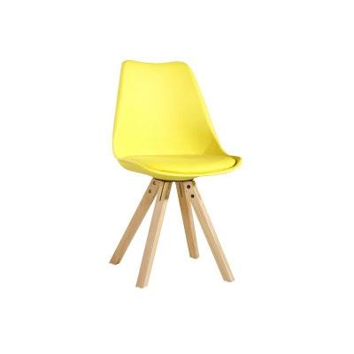 Chaise scandinave jaune en solde la redoute - Chaises la redoute soldes ...