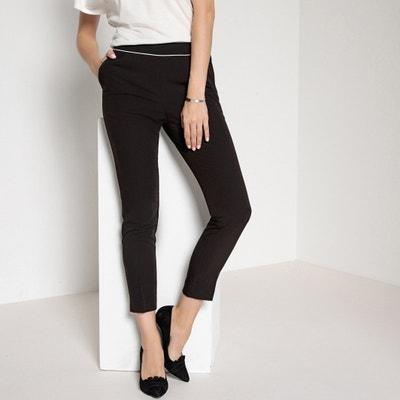 Pantalon droit, plis marqués devant et dos ANNE WEYBURN