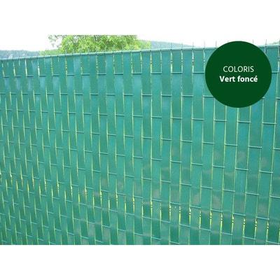 Lanière PVC pour palissade largeur 52 mm x 60 m+100 clips- Vert Foncé Lanière PVC pour palissade largeur 52 mm x 60 m+100 clips- Vert Foncé JARDIDECO