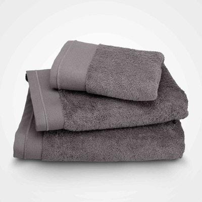 Serviette de toilette - coton peigné 600 g/m² - gris taupe BLANC CERISE
