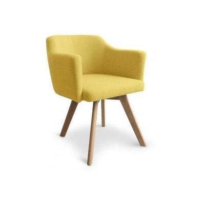 fauteuil scandinave tissu jaune layal declikdeco - Fauteuil Scandinave Moutarde