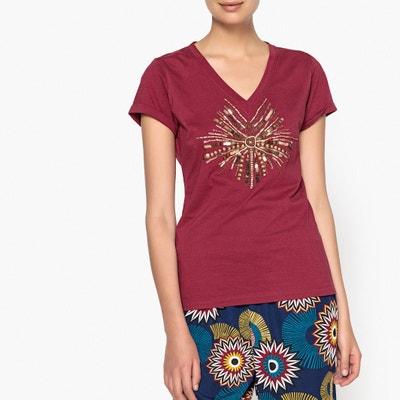Beaded V-Neck T-Shirt ANNE WEYBURN