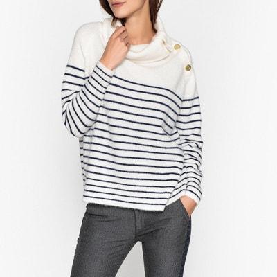 Пуловер с оригинальным вырезом из тонкого трикотажа Пуловер с оригинальным вырезом из тонкого трикотажа MES DEMOISELLES