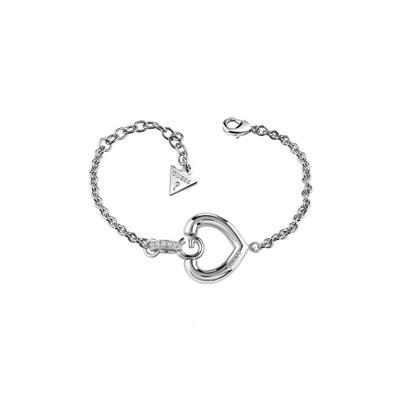 Bracelet Gisele C?ur Rhodie GUESS