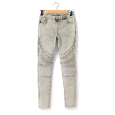 Seamed Cotton Rich Denim Jeggings La Redoute Collections