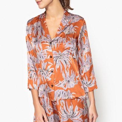 Printed Silk Pyjama Shirt POMANDERE