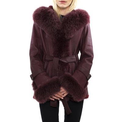 Long manteau femme cuir