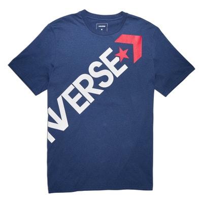 Camiseta con cuello redondo y motivo delante, Cross Body CONVERSE