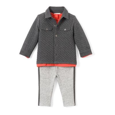 Conjunto de 3 prendas con sobrecamisa 1 mes - 3 años Conjunto de 3 prendas con sobrecamisa 1 mes - 3 años La Redoute Collections