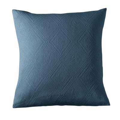 Housse coussin ou oreiller coton jacquard INDO Housse coussin ou oreiller coton jacquard INDO LA REDOUTE INTERIEURS