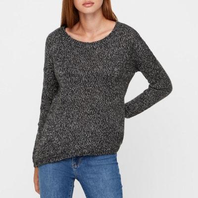 Пуловер с вырезом-лодочкой из тонкого трикотажа Пуловер с вырезом-лодочкой из тонкого трикотажа VERO MODA