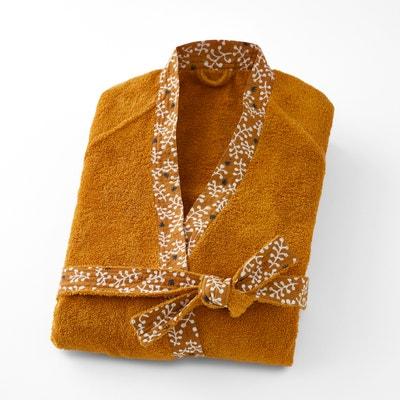Kimono badjas in badstof met fantasie boord LONIE Kimono badjas in badstof met fantasie boord LONIE La Redoute Interieurs