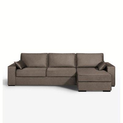 Canapé d'angle lit, microfibre, Cécilia La Redoute Interieurs