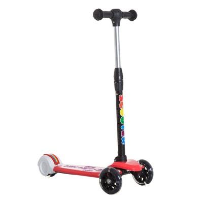 Trottinette enfant pliable 3 à 7 ans 3 roues rouge HOMCOM