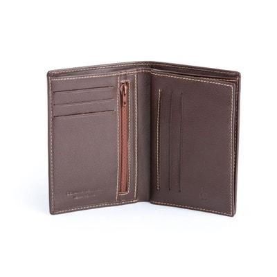 Portefeuille pour homme vertical en cuir Nappa avec fentes pour cartes de  crédit et fermeture éclair 411dc2b1736