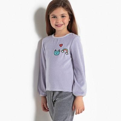 Pyjama 2 pièces, velours, manches longues 3-12 ans Pyjama 2 pièces, velours, manches longues 3-12 ans LA REDOUTE COLLECTIONS