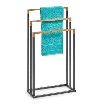 Porte Serviettes à Poser Design Métal Bois