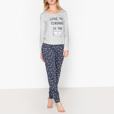 Pyjama en coton, motif chat Pyjama en coton, motif chat La Redoute Collections