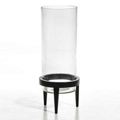 Bodenvase/Terrarium, Glas/Mangoholz, Durchmesser 25,5 cm AM.PM.