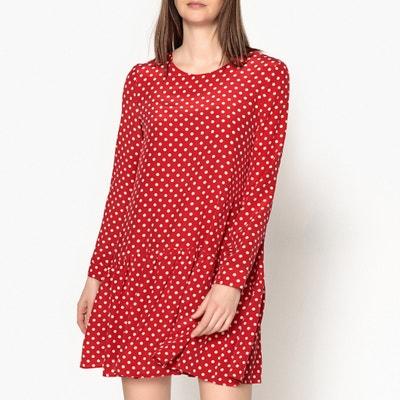 Mali Polka Dot Print Silk Pussy Bow Dress TOUPY