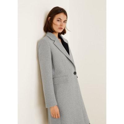Manteau long en laine MANGO