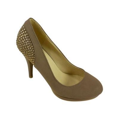 Chaussures escarpins femme à talons hauts, plateforme et strass CHAUSSMARO 9cf3def126b7