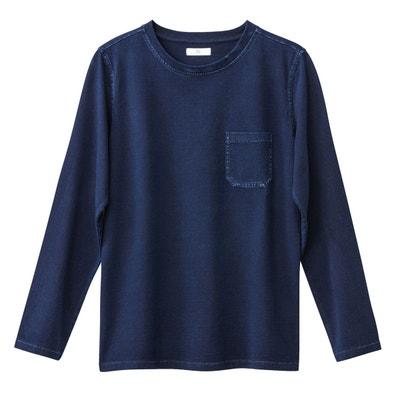 T-shirt à col rond et manches longues uni La Redoute Collections
