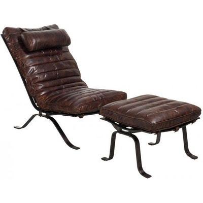 chaise longue rtro en cuir marron fonc chaise longue rtro en cuir marron fonc jolipa - Chaise Longue Cuir