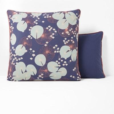 JARDIN D'EAU Printed Cotton Percale Pillowcase La Redoute Interieurs