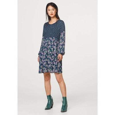 Long-Sleeved Floral Print Long Dress Long-Sleeved Floral Print Long Dress ESPRIT