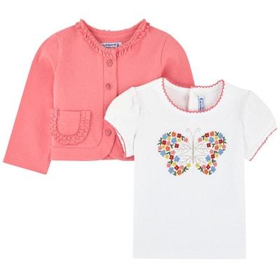 502bf771dcbed Cardigan et t-shirt brodé PRINCESSE ILOU