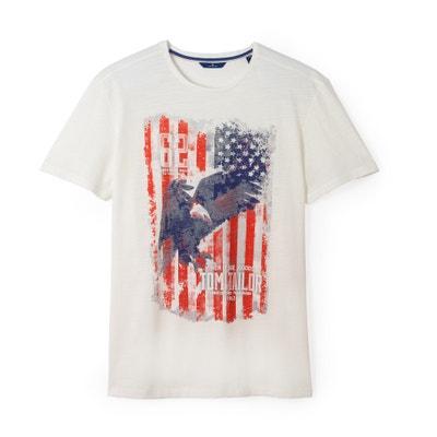 T-Shirt mit Flaggenmotiv TOM TAILOR
