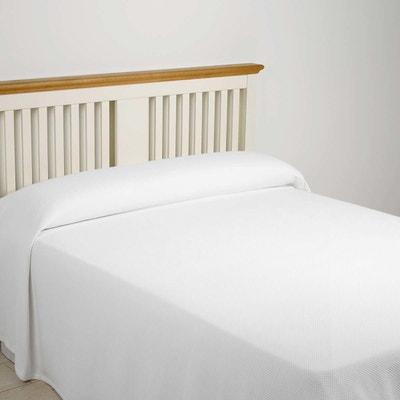 jete de lit coton blanc en solde la redoute. Black Bedroom Furniture Sets. Home Design Ideas