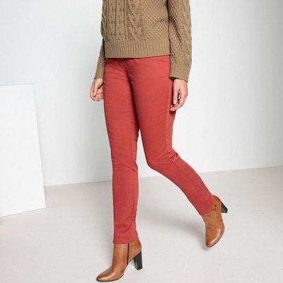 Pantalon droit, 5 poches, coton, taille élastiquée Pantalon droit, 5 poches, c41ebc48b638