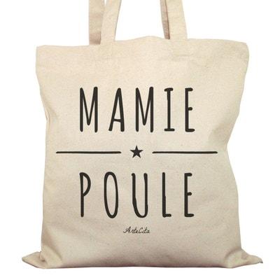 Tote bag en coton Bio - Mamie Poule ARTECITA