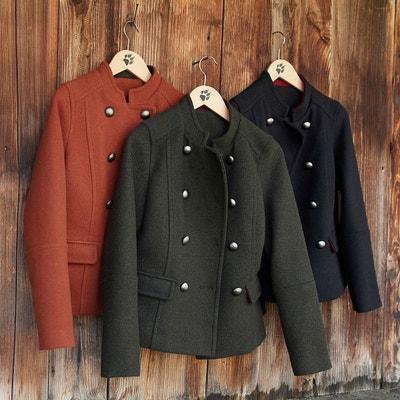 Blouson style militaire en mélange laine Blouson style militaire en mélange laine La Redoute Collections